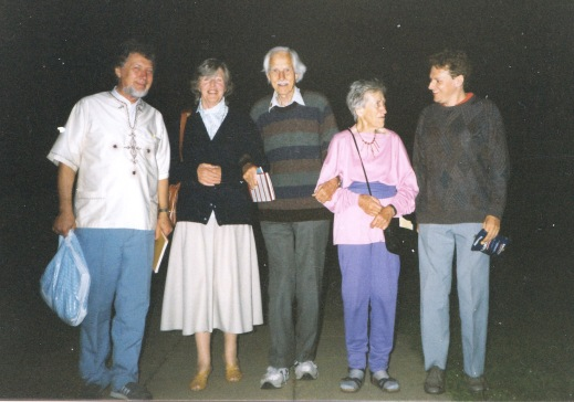 From the left: Sam Wilson, Erika Whittaker, Sir George Trevelyan, Marj Barstow, John Hunter.